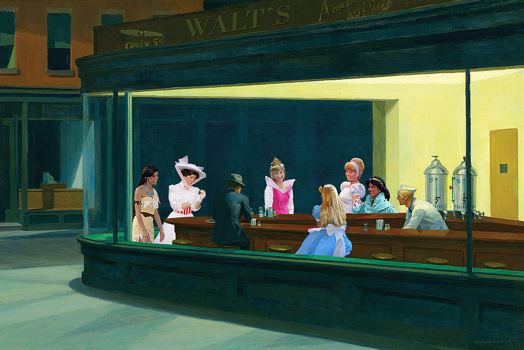 Walt's Diner – Amazing Fan Art Homage to Disney and Edward Hopper