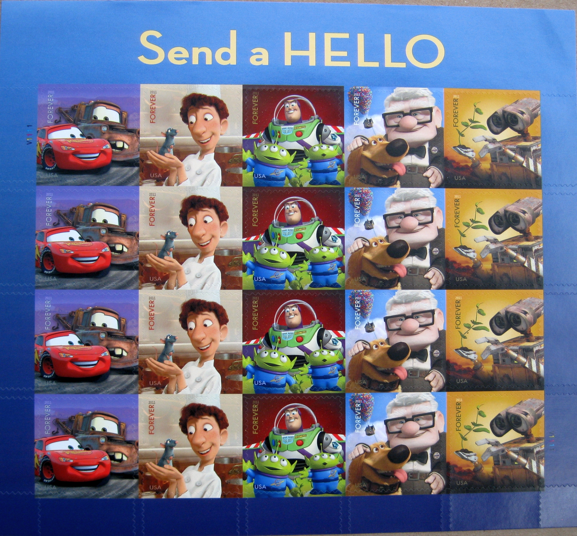 """New Disney Pixar """"Forever"""" Stamps from the USPS"""