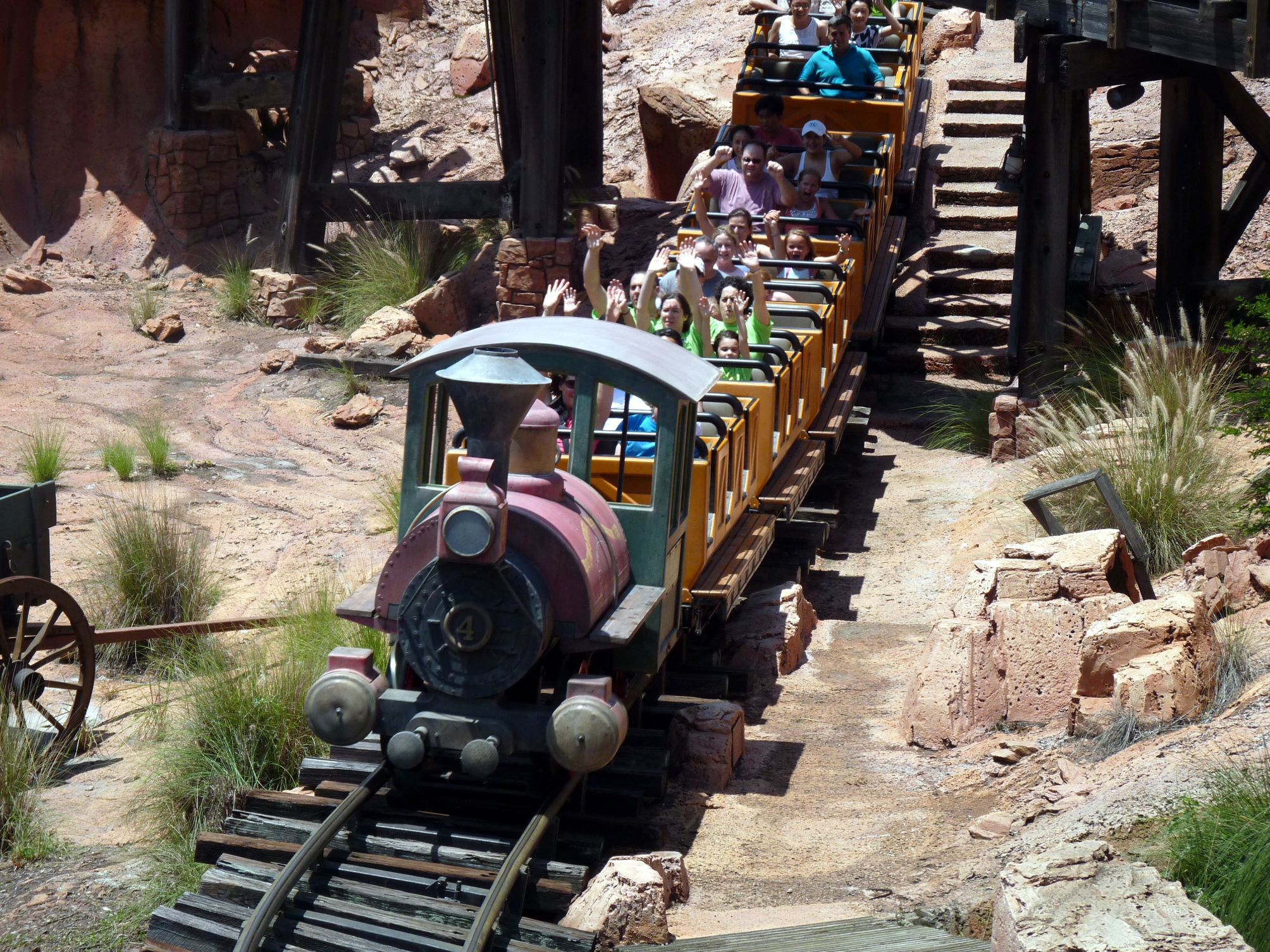 Jud's Disney Picture of the Day: Big Thunder on the Road