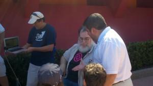 Ron Schneider with Lou Mongello