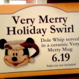 Just saw these Santa Mickey mugs for Dole Whip and had to share! The line was too long to ask last night but I'll update as a find more info. If they are like the Halloween Dole Whip mugs, they will be available daily, not just for Mickey's Very Merry...