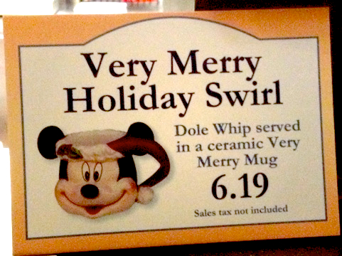 Santa Mickey Dole Whip Mugs at Disney Parks