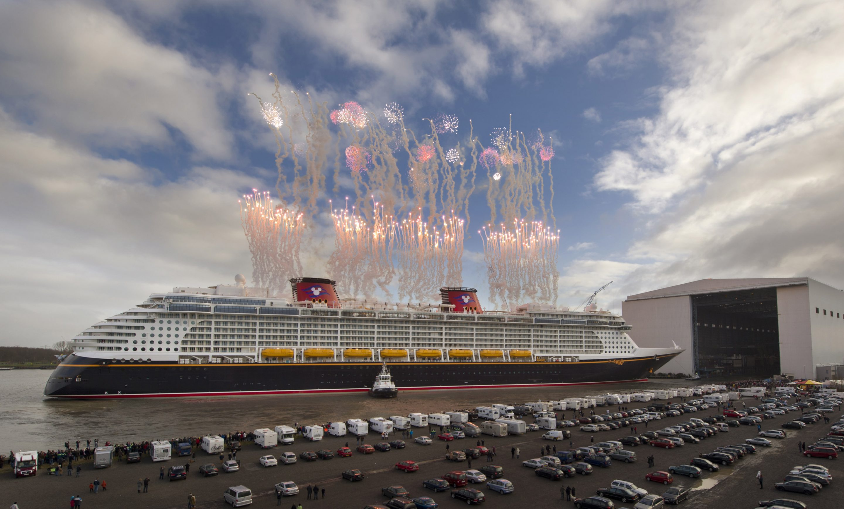 Disney Fantasy Floats Into The Open Sea!