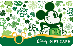 Shamrock Mickey Gift Card