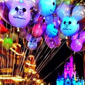 Castle with balloons