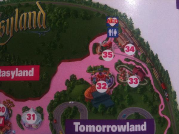 Dumbo on park map