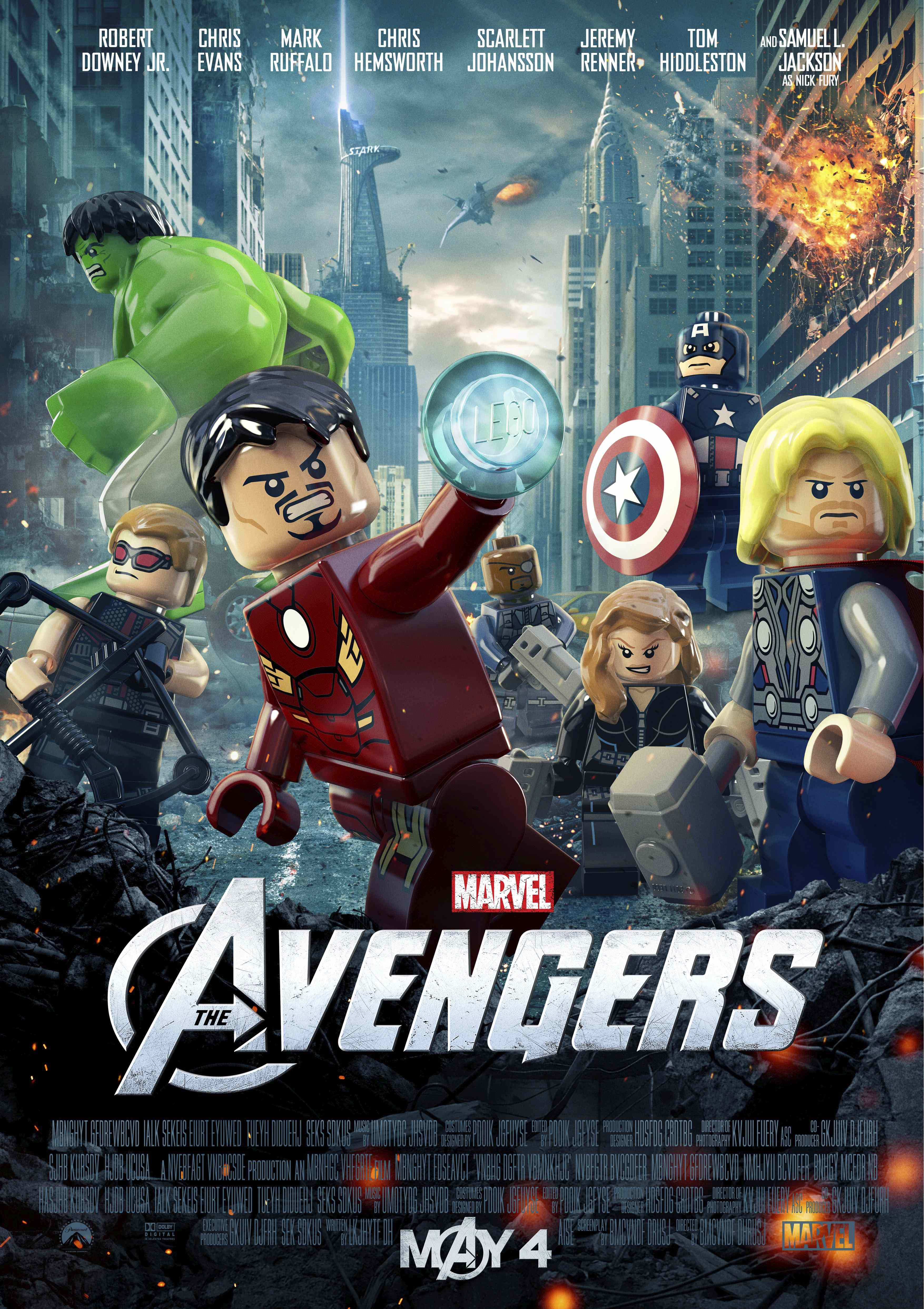 Avengers LEGO Movie Poster Previews LEGO figures