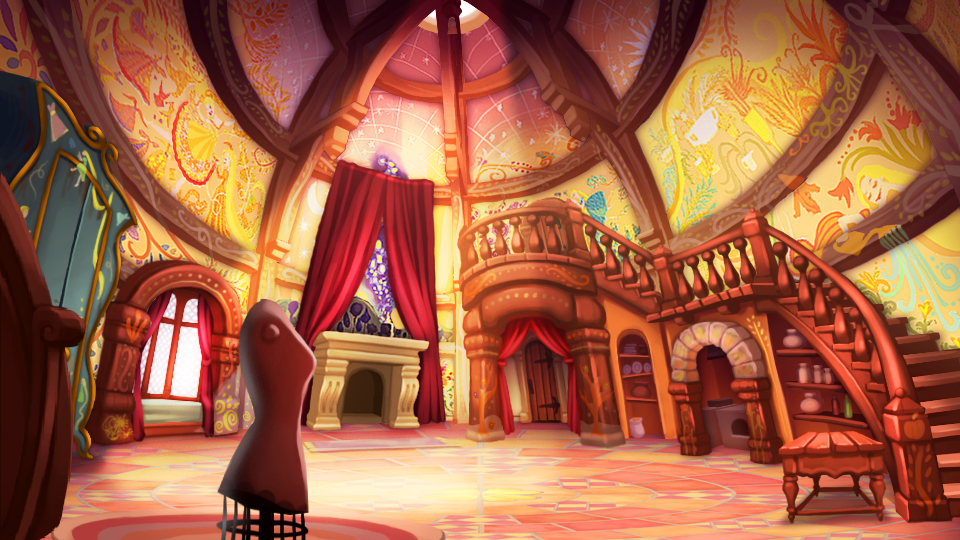 the art of tangled rapunzel fortress room concept art this is concept. Black Bedroom Furniture Sets. Home Design Ideas