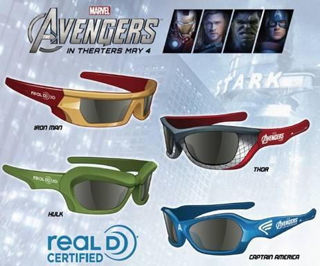 Avengers 3D glasses