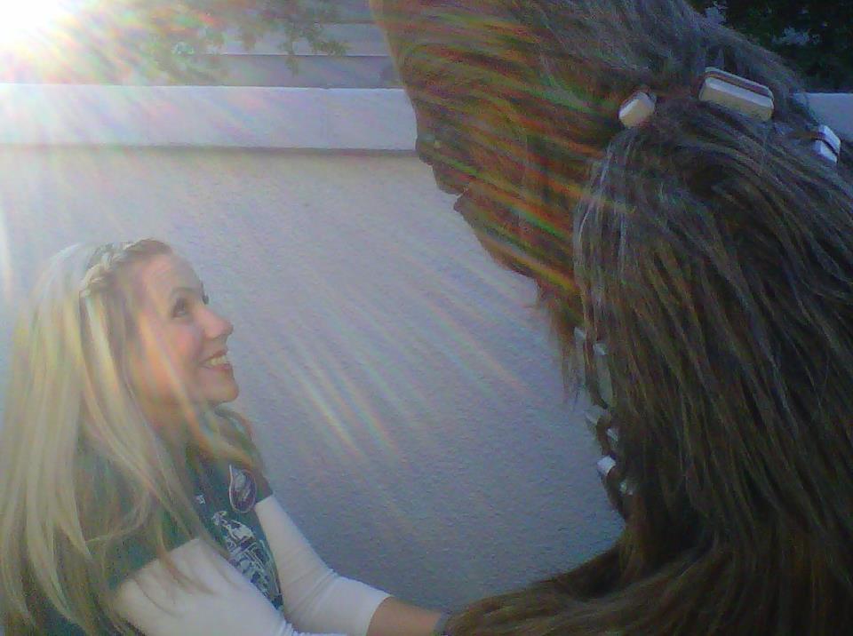 Ashley Eckstein and Chewbacca