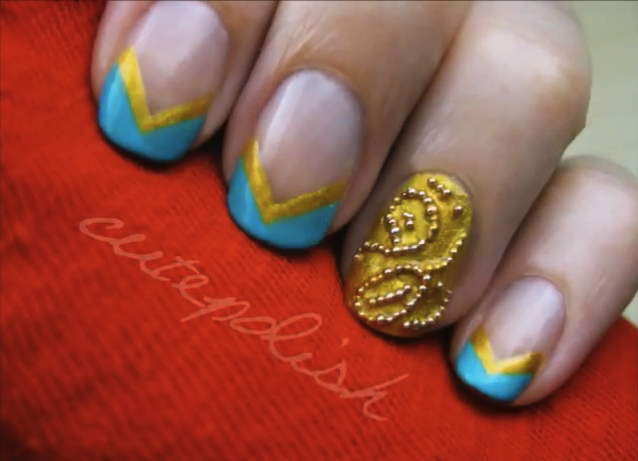 Disney Pixar's Brave Gorgeous Nail Art Tutorial!