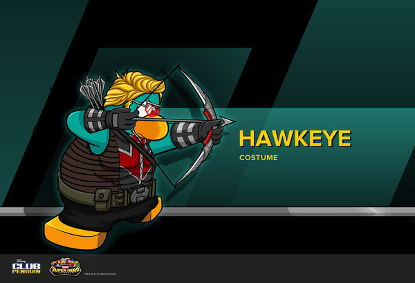 Club Penguin Marvel Super Hero Takeover - Hawkeye