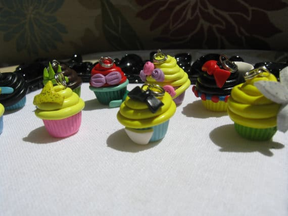 Adorable Disney Princess Cupcake Jewelry Pendants