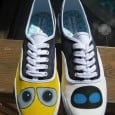 I know I'm not alone in thinking Wall-E and EVE are one of Disney's greatest love stories. Somehow we can all identify with robots because of that film. Here's another great pair of custom painted shoes from artist Taylor Litonjua on etsy: