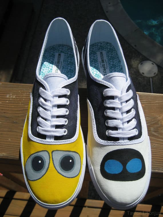 Disney Pixar's Wall-E Custom Fan-Painted Shoes