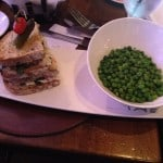 Lobster Club with peas