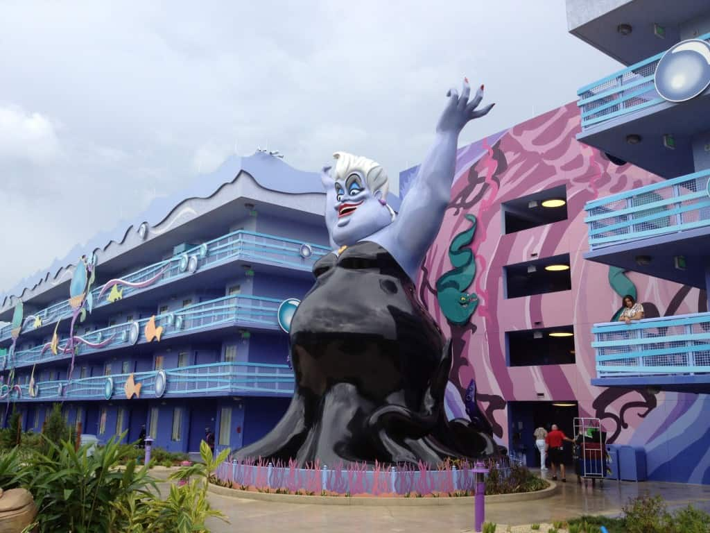 Disney's Art of Animation Little Mermaid buildings