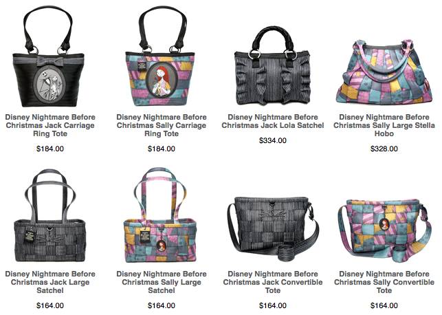 NEW 2012 Edition of Disney Couture Nightmare Before Christmas by Harvey's Bags