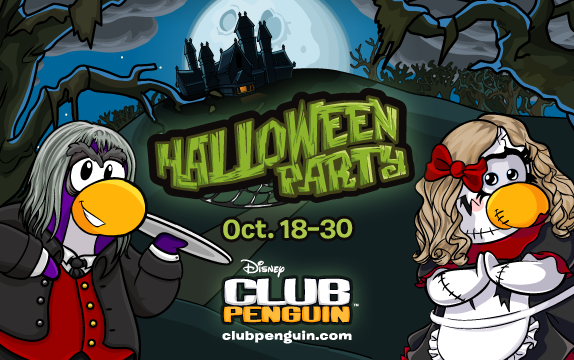 Club Penguin's Annual Halloween Party Visits the Haunted Mansion!