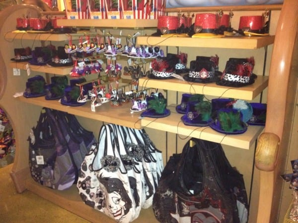 Villains tiny hats and bags