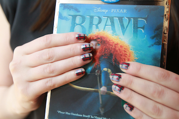 How To: Disney Pixar's BRAVE Tartan Nails Tutorial