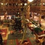 Wilderness Lodge Christmas Tree Installation