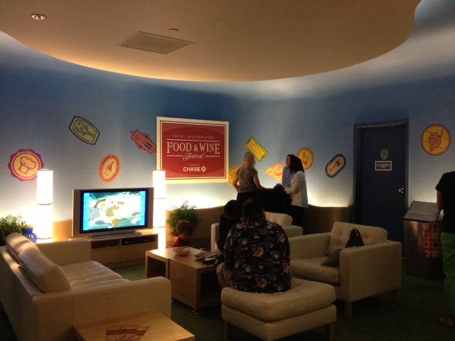 Inside the Chase Visa Lounge at Epcot's Food and Wine Festival