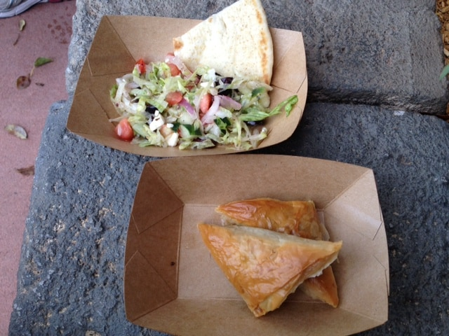 Greek Salad and Spanakopita