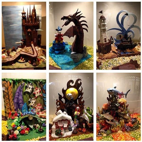 Ghirardelli Chocolate Experience chocolate displays
