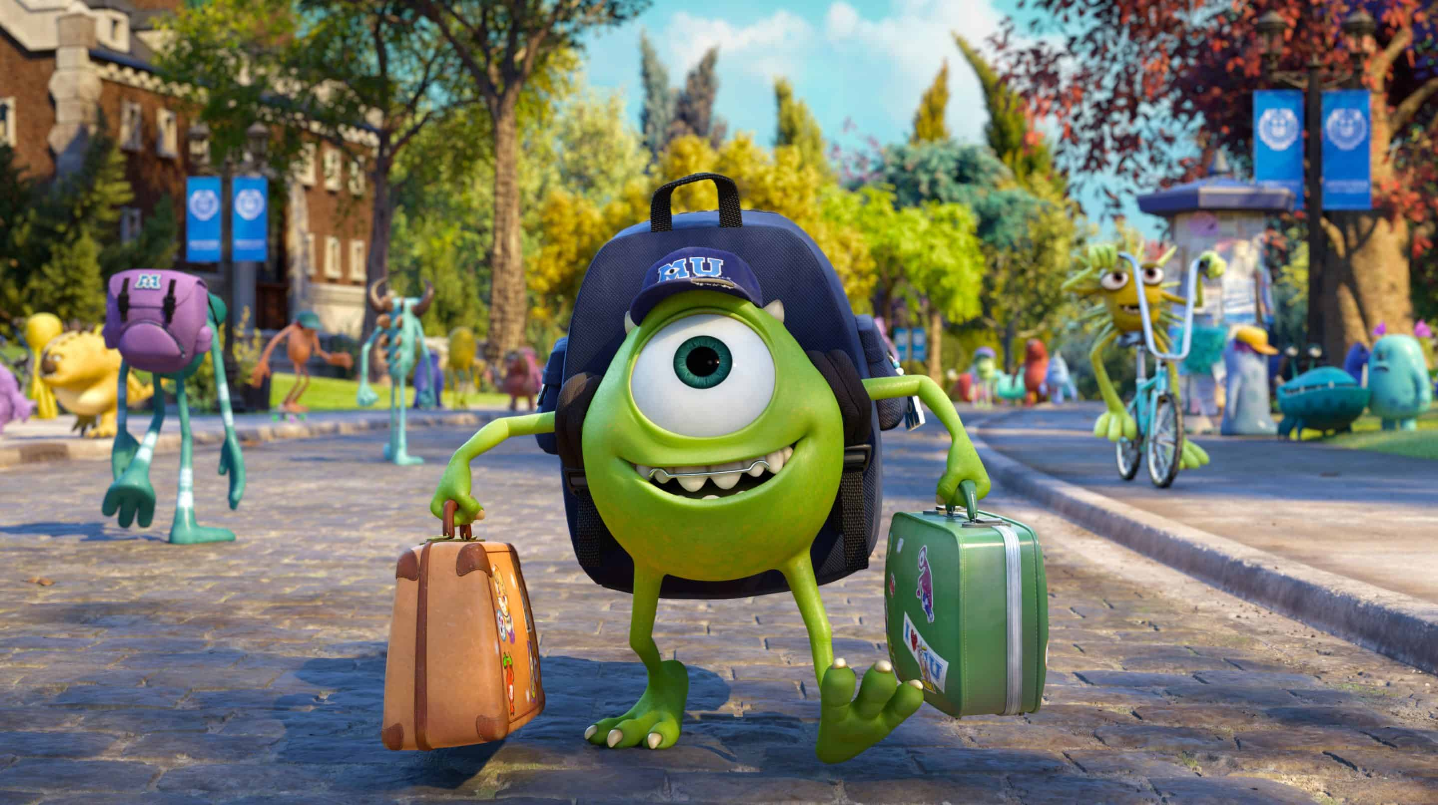 New Images for Monsters University – College Life for Mike & Sulley