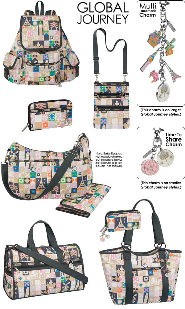 NEW Disney LeSportsac It's a Small World Bags-Spring 2013 Collection