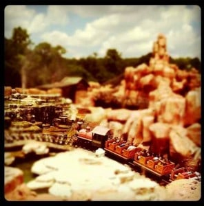 Tilt-shift Big Thunder by @otisney