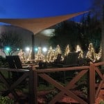 Epcot's Garden Retreat at night