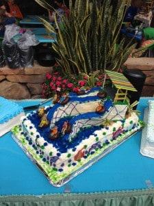 Aquatica birthday cake