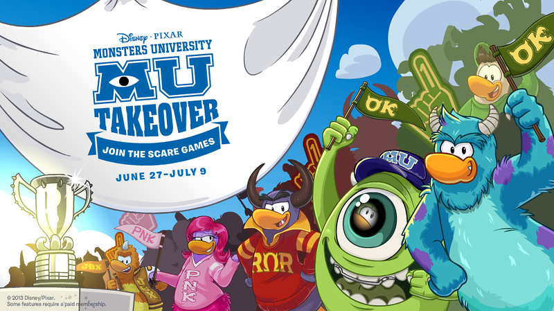 Club Penguin's 'Monsters University' Takeover!
