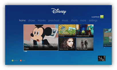 "Disney Interactive Delivers ""Best of Disney"" to Fans' Homes with New App for Xbox 360"