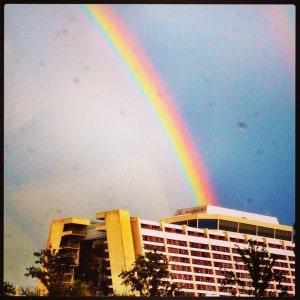 Contemporary Resort rainbow