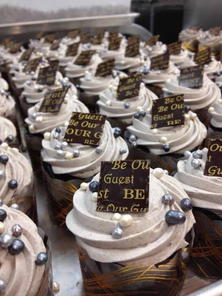 Be Our Guest Grey Stuff cupcake