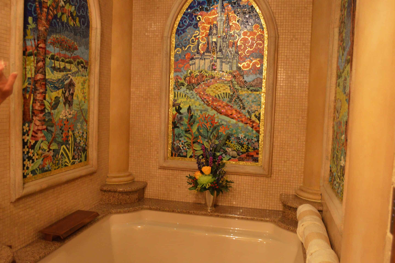 Bathroom Tub Inside Cinderella Castle Suite Zannaland