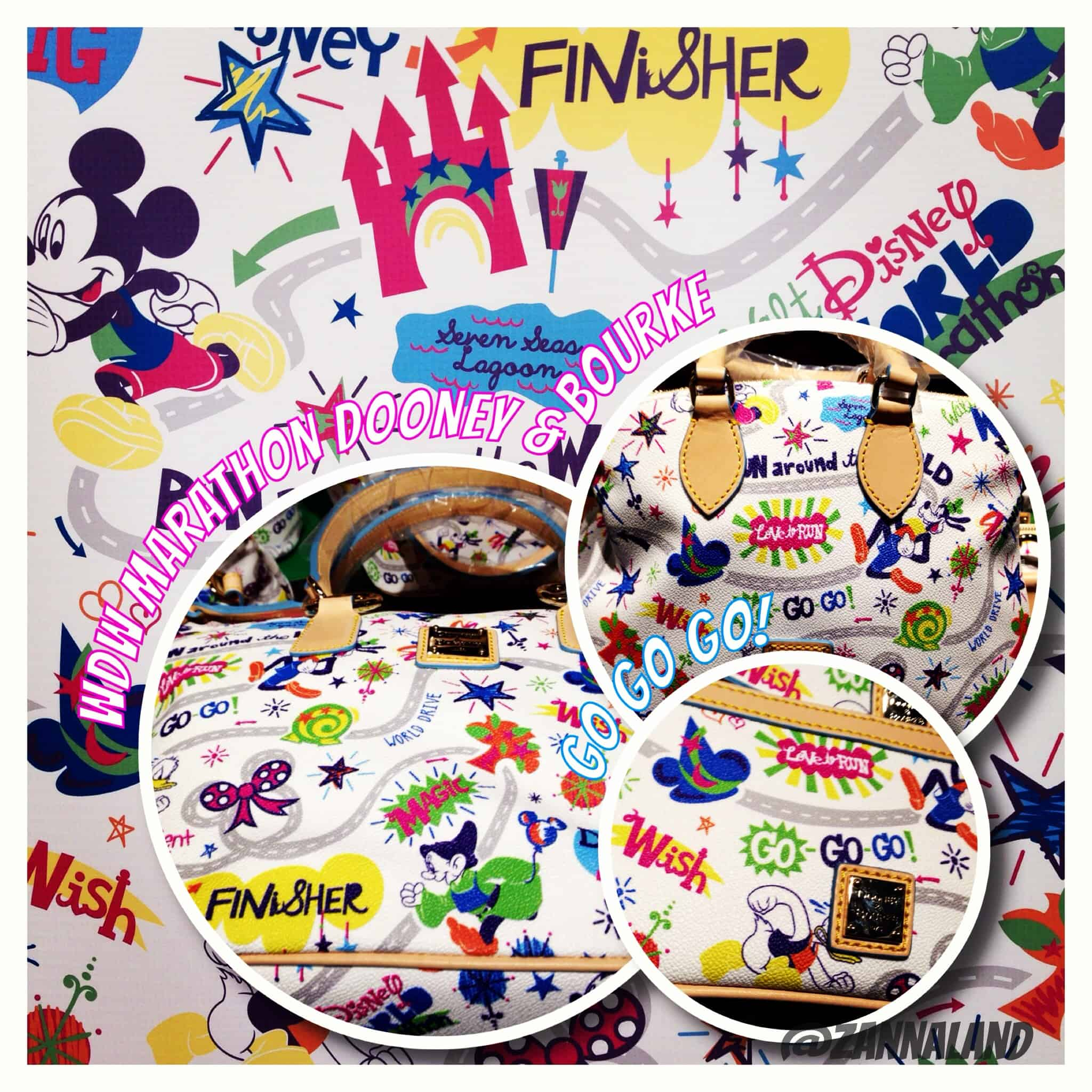 NEW! 2014 Walt Disney World Marathon Dooney and Bourke Bags