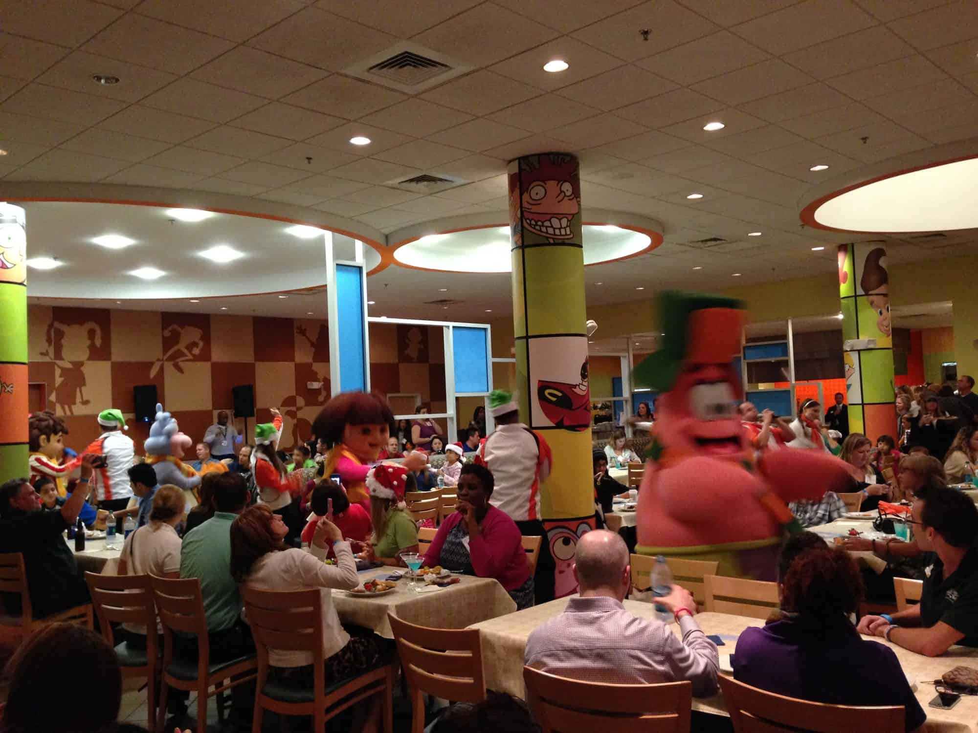 Nick Hotel character dinner