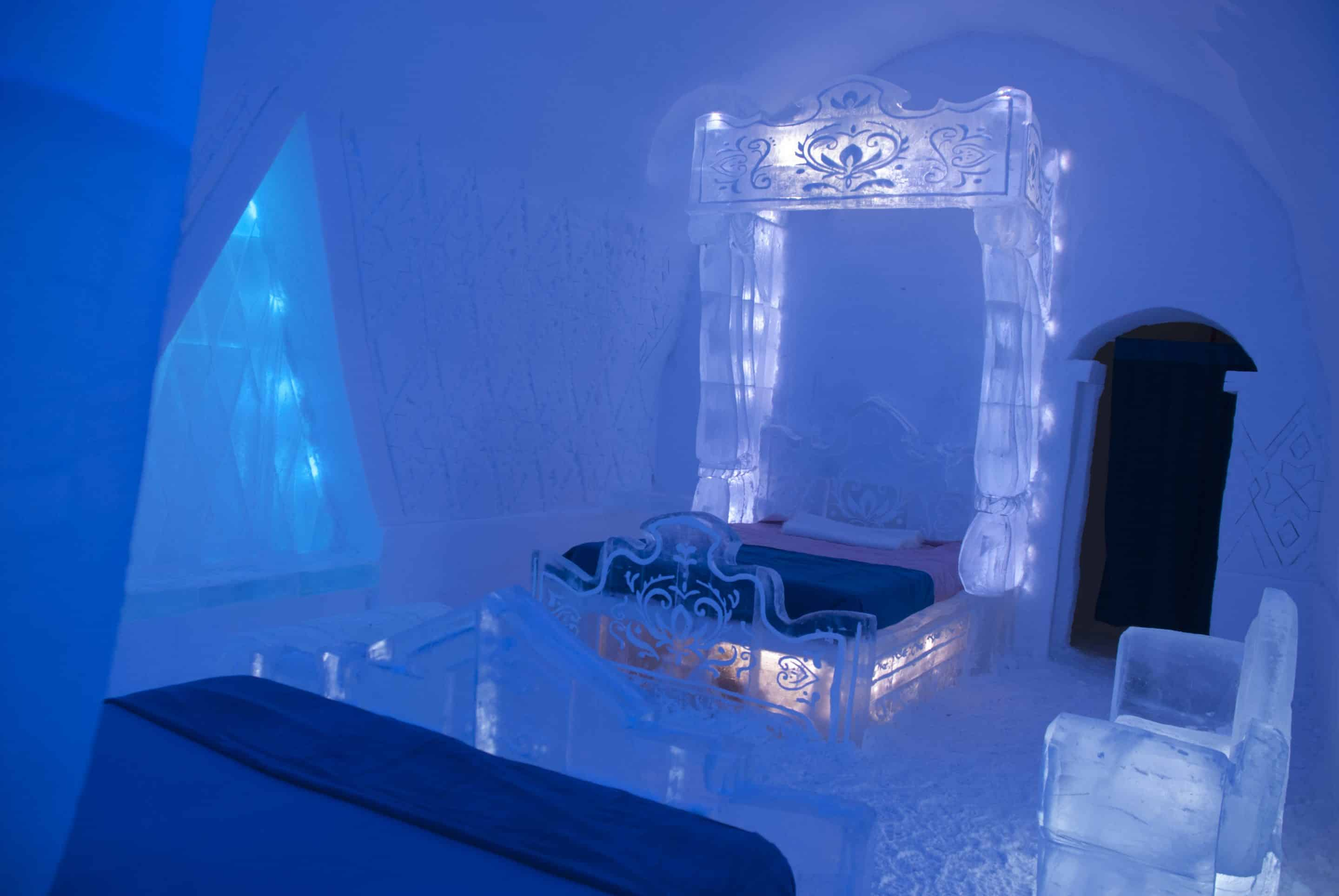 Disney Frozen Themed Guest Suite at Quebec City's Hotel De Glace