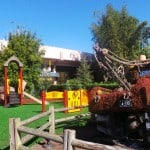 Kids playground behind Mater