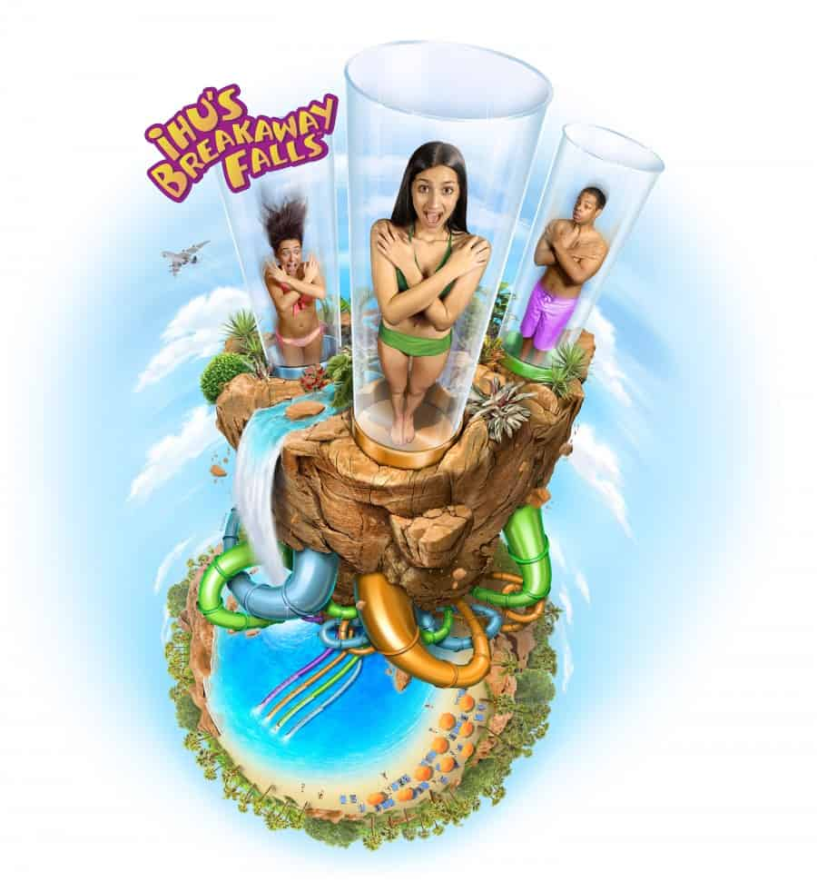 Ihu's Breakaway Falls Dropping May 9 at Aquatica Orlando