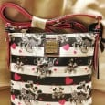 "Disneylanders were given a surprise from Dooney & Bourke yesterday when an entirely new pattern was released in the parks and the Downtown Disney District. The new Mickey and Minnie ""Sweethearts"" pattern features black and white classic Mickey and Minnie with touches of hot pink hearts as well as hot […]"