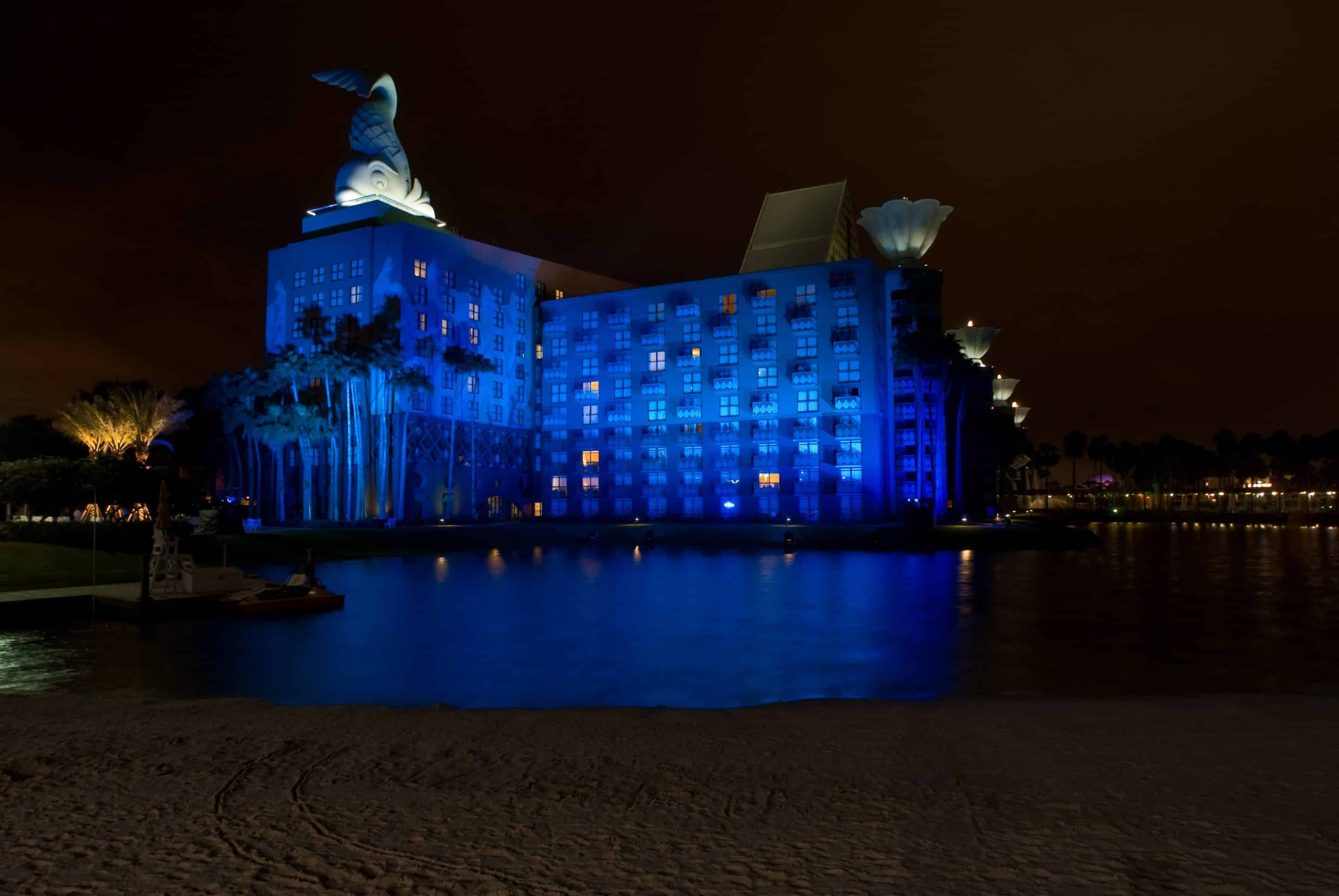 Walt Disney World Swan and Dolphin Hotel Will Light It Up Blue Tonight