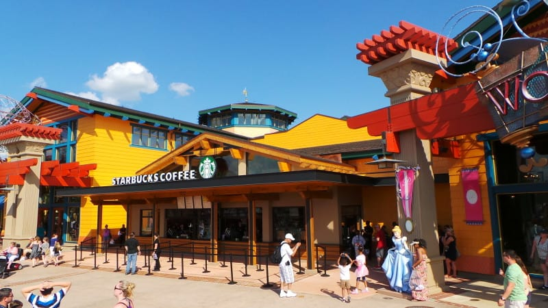 Downtown Disney Marketplace Starbucks Opens-West Side to Follow