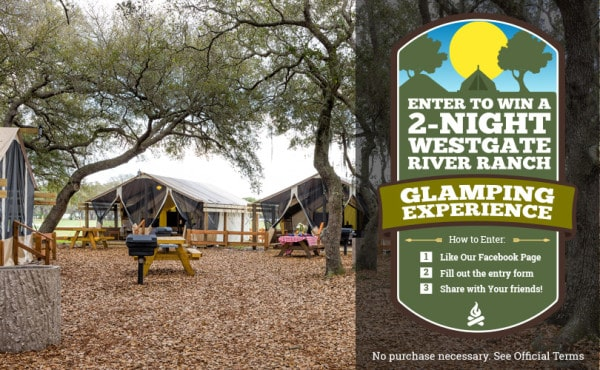 Westgate River Ranch Offers All-Inclusive Glamping Experience Sweepstakes