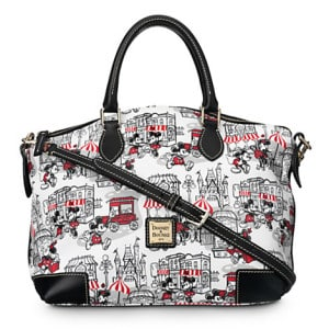 Mickey and Minnie Street Scene Black Straps