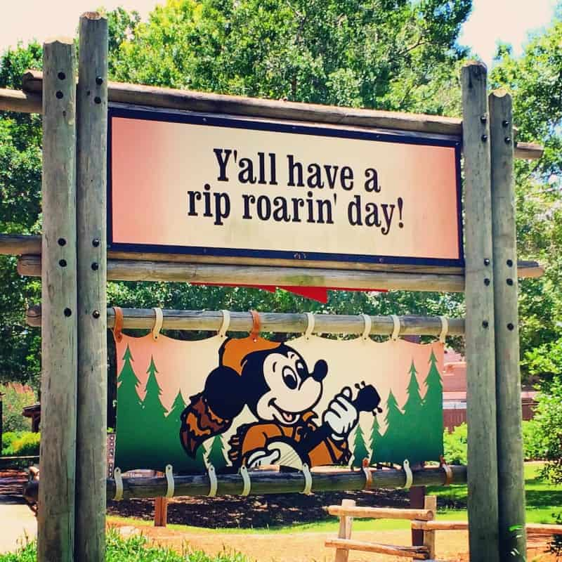River Country Sign